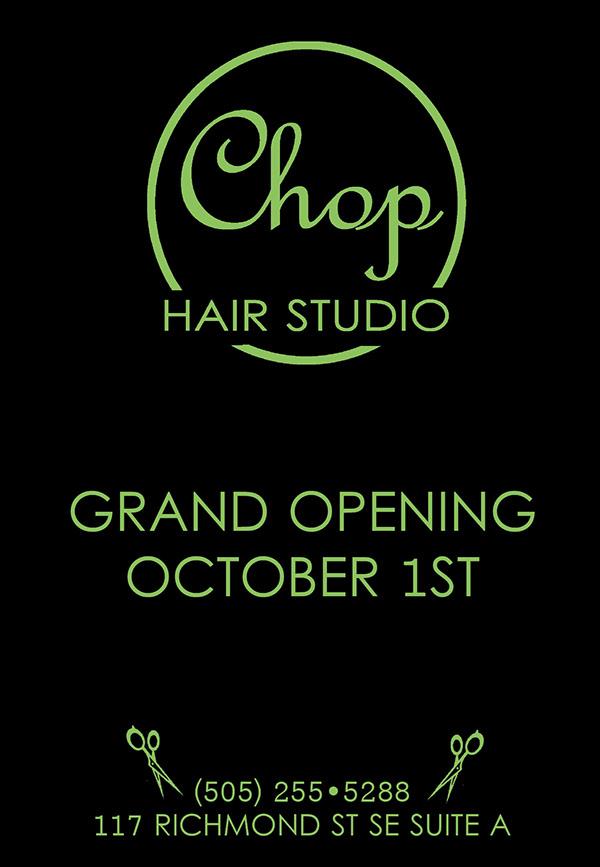 Chop hair studio albuquerque nm on behance - Hair salon albuquerque ...