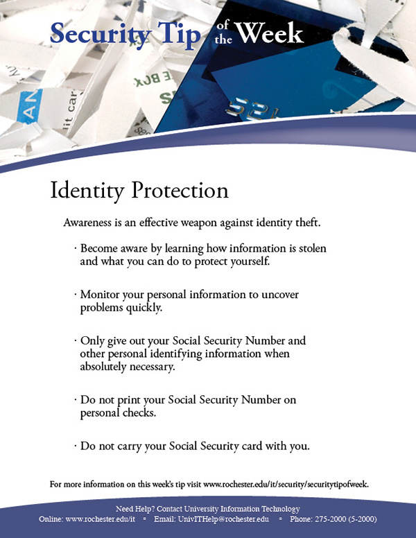 technology tip of the week security