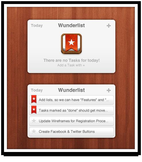Wunderlist Android Widget on Behance