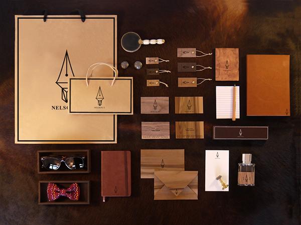 branding  Clothing wood Menswear brown pen logo