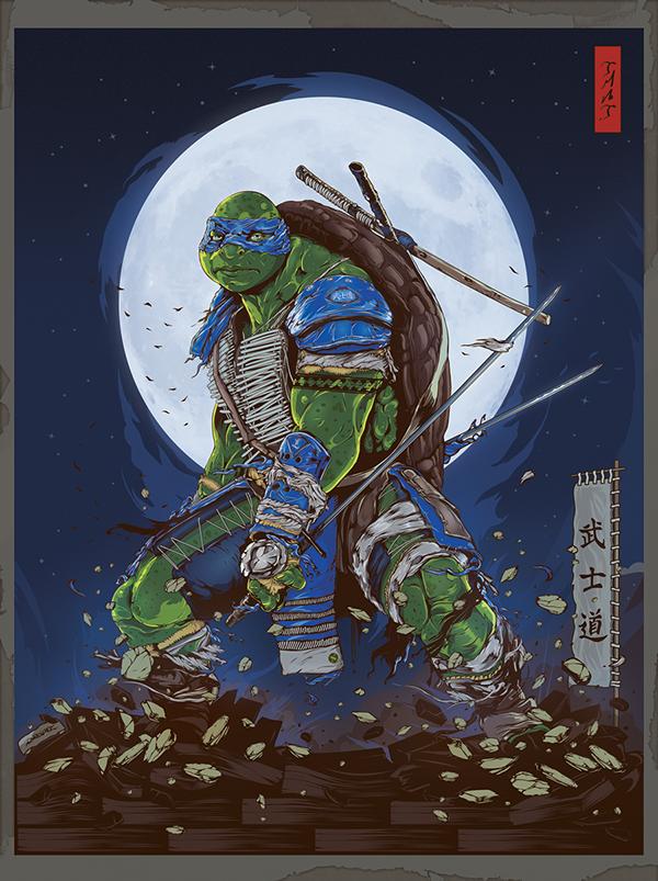 TMNT: Legend of the Yokai Poster by Diego L. Rodríguez