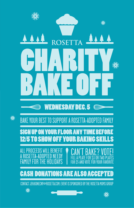 Charity Bake Off Poster On Behance