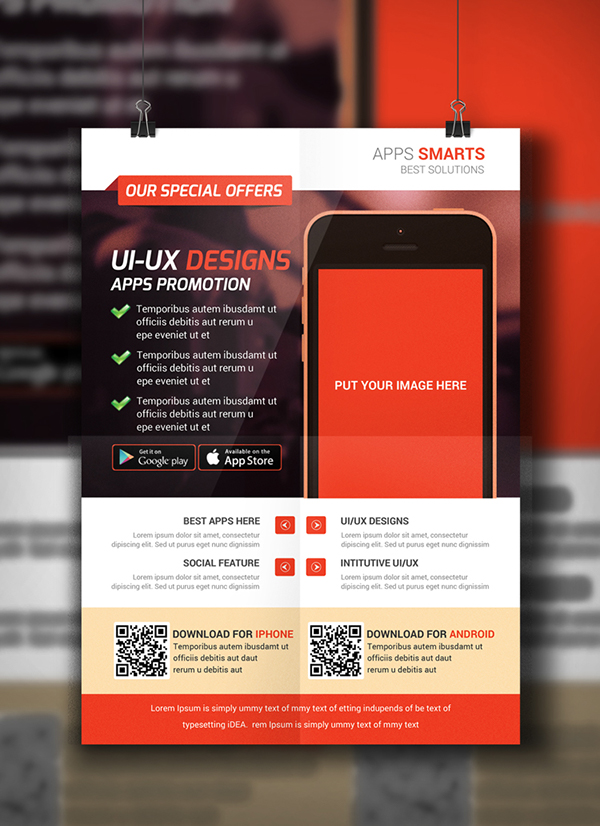 Mobile Apps Flyer Template On Behance