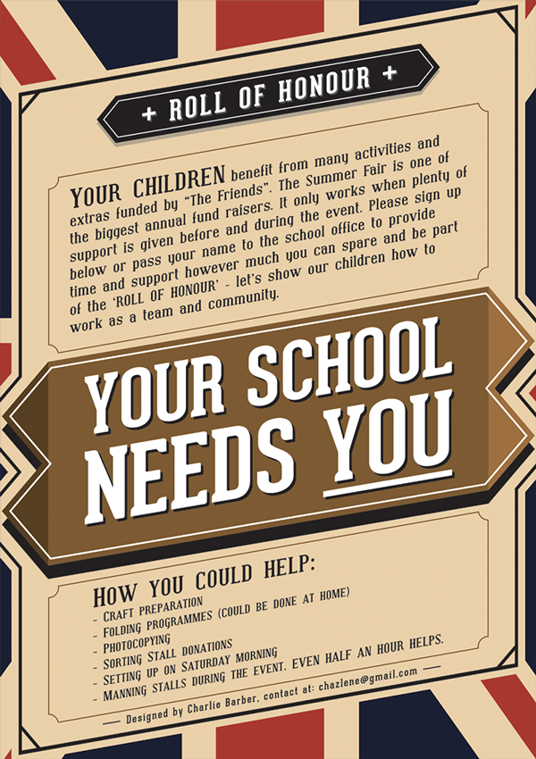 School Charity Event Poster on Behance