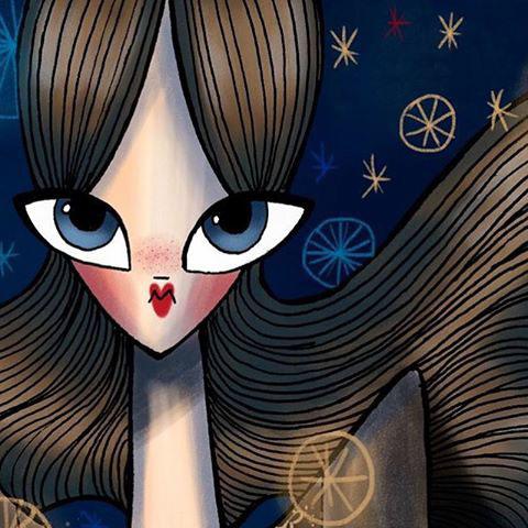 fashionillustration valentino georginachavez mexico cuu art stars moon