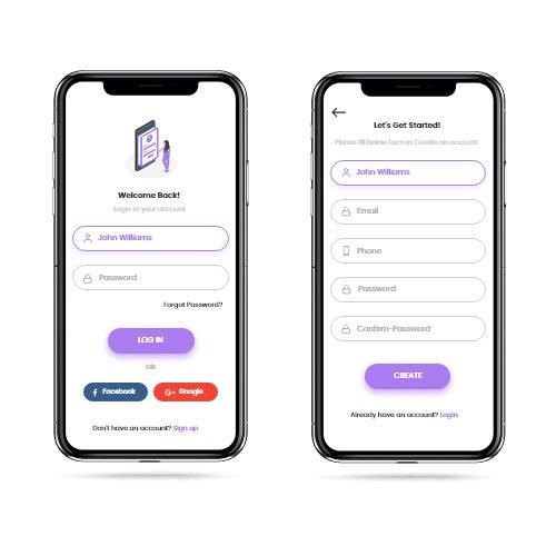 Mobile Login UI