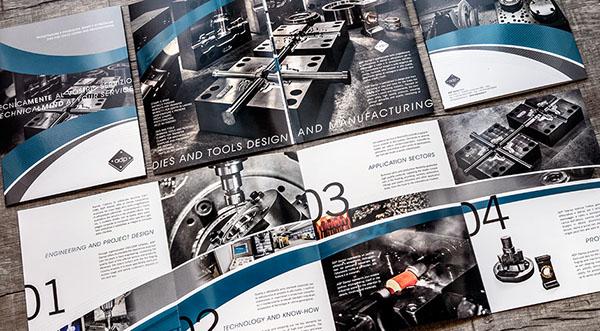 company profile brochure Drip off coating print business card