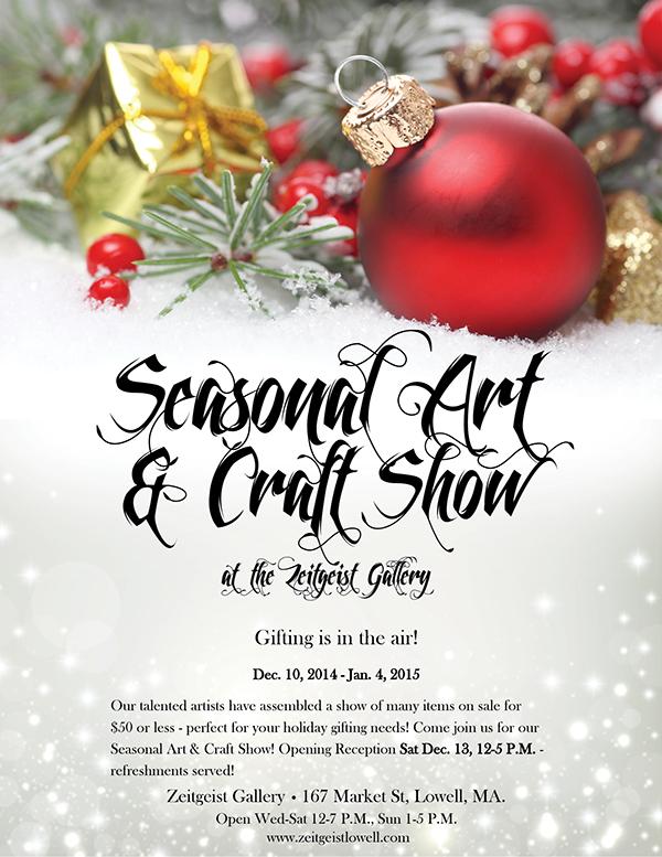 Christmas Craft Show Flyer.Zeitgeist Gallery Seasonal Art Craft Show Flyer On Behance