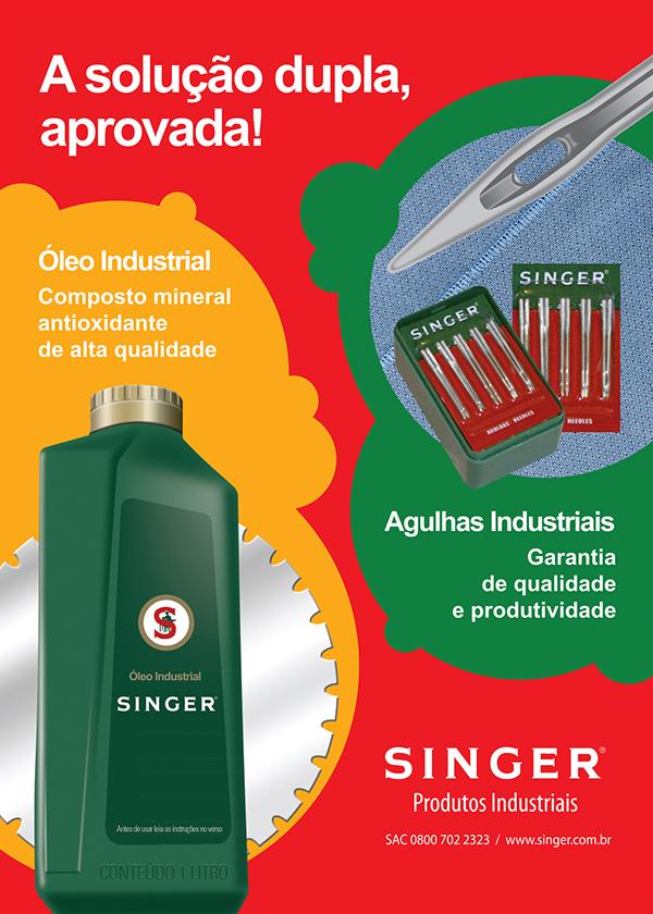 campanhas Singer linha industrial impressos folder comunica~ção visual designer criação