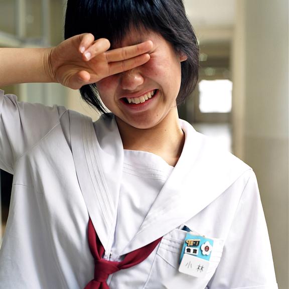 japan portraits teens Hasselblad Natural Light school medium format location Osaka-shi
