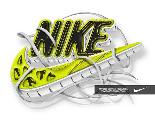 Nike Futura Logo On Pantone Canvas Gallery