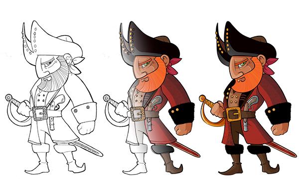 pirates  Ilustrator ilustration vector sea