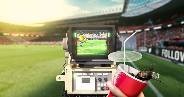 FIFA Quokka Project Liverpool Manchester United soccer football design montage camera cola drink grass