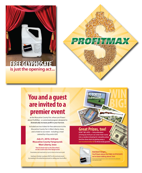 farming agriculture iowa profit max corn soybeans Direct mail county fair muscatine
