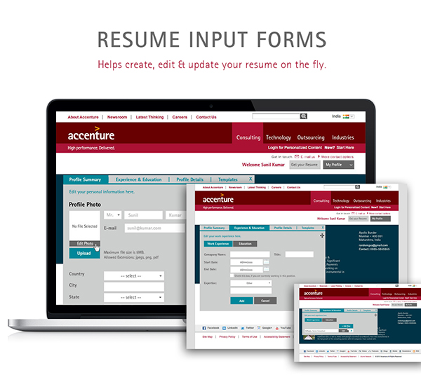 Interactive Resume Builder On Behance  Interactive Resume Builder