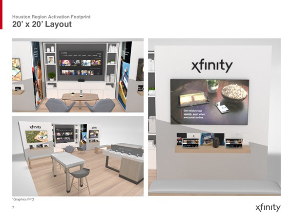 Xfinity Houston Activation on AIGA Member Gallery