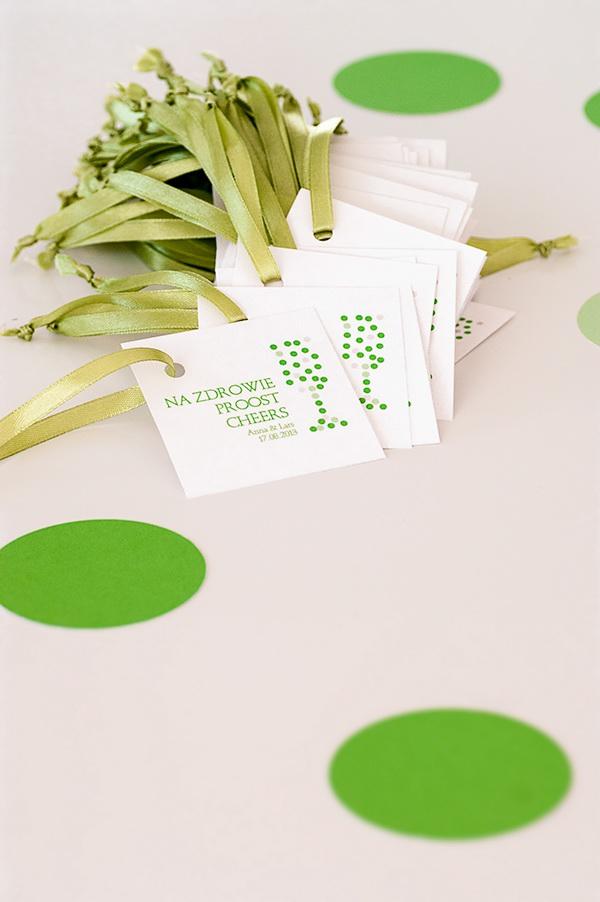 wedding dots Invitation green invitation green wedding zaproszenie ślubne ślub zaproszenia ślubne