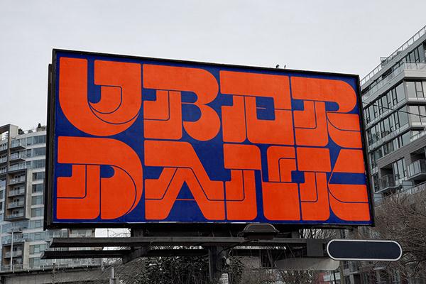 UBERDANK Typeface