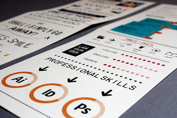 Curriculum Vitae graphic typo Resume CV design visual infographic info orange green baloon art job