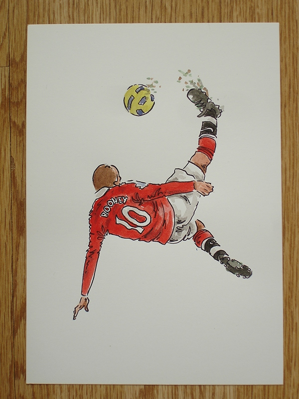 Wayne Rooney Sketch Wayne Rooney Bicycle Kick on Behance