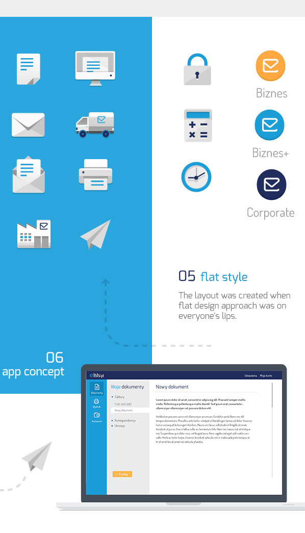 letter mail Email plane paper blue yellow White landing page Product Page business Icon flat flat design