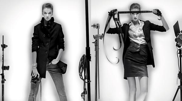 Levis Lady Style black and white photographer studio
