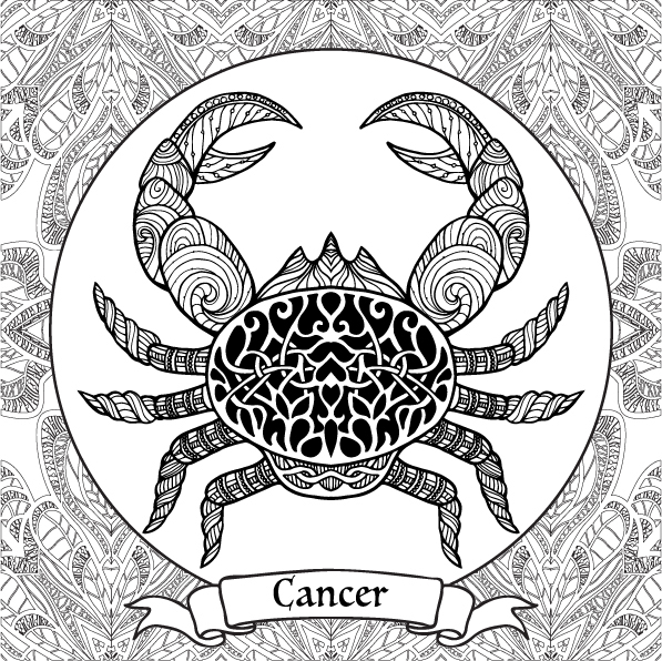Zodiac Signs Coloring Pages on