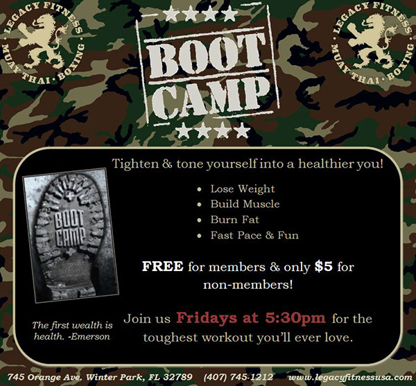 Legacy Fitness Boot Camp Class Flyer On Behance
