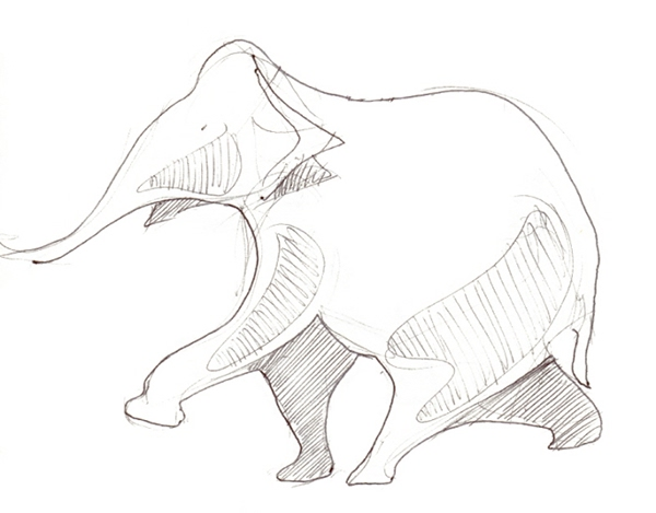 Wild animal on pantone canvas gallery - Dessiner un cheval simple ...