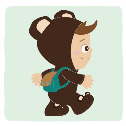Buddy hoody Character cartoon child hood