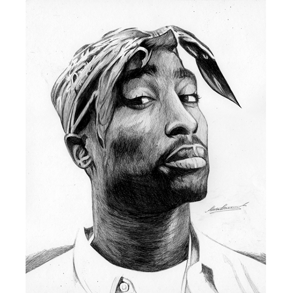Tupac Portrait Drawing on Behance