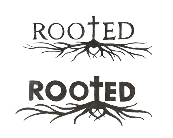 10 Signs You Grew Up In A Christian Family: ROOTED Logo Sketches On RISD Portfolios