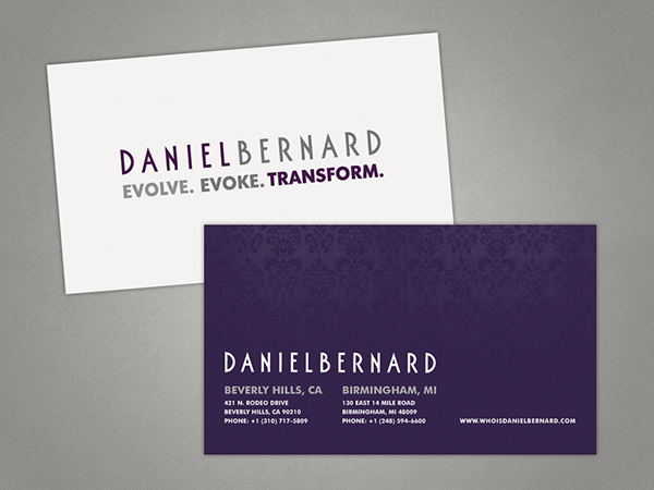 Daniel bernard business card design on behance reheart Choice Image