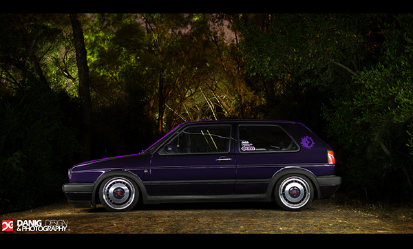 photoshoot vw golf mk2 gtd fire and ice on behance. Black Bedroom Furniture Sets. Home Design Ideas