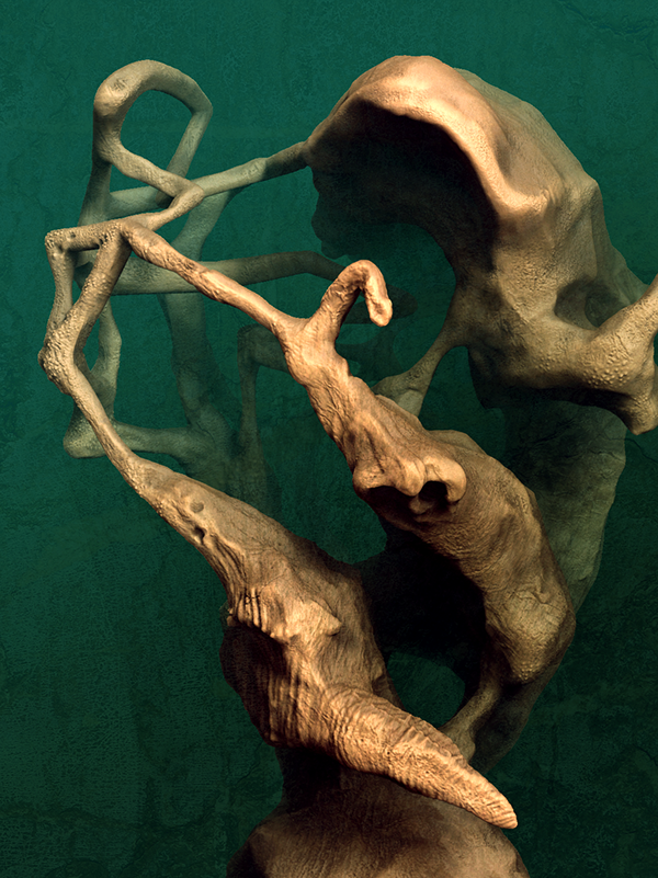 Experimenting with Form in ZBrush on Behance