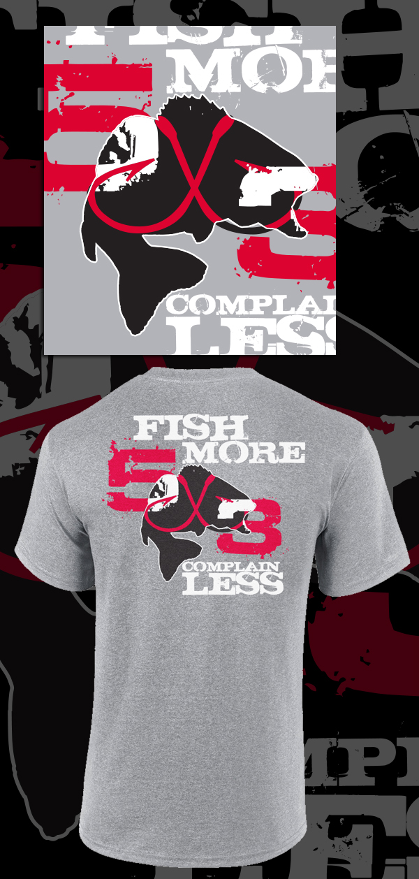 5x3 no excuses tee shirts on behance for Fishing shirt of the month