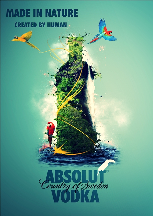 Absolut Made By Nature On Behance