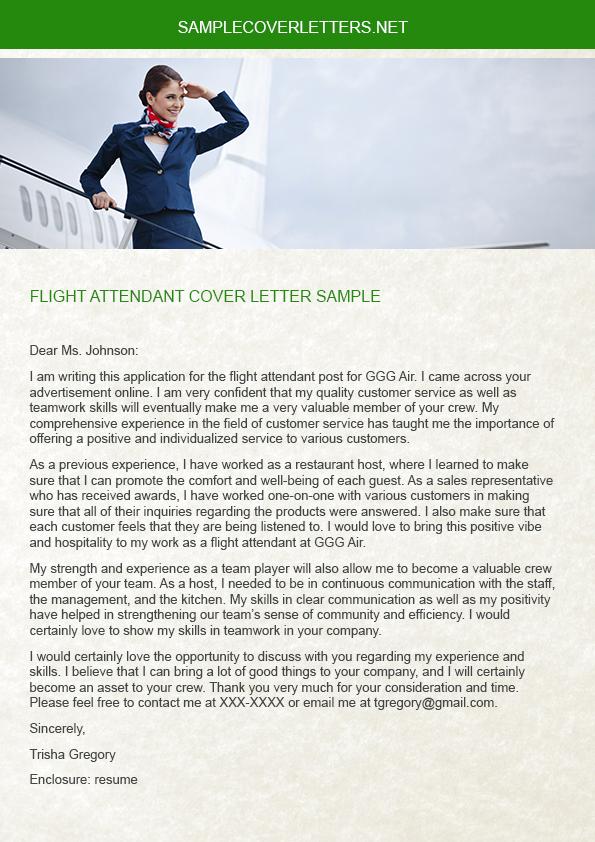 flight attendant cover letter sample on behance