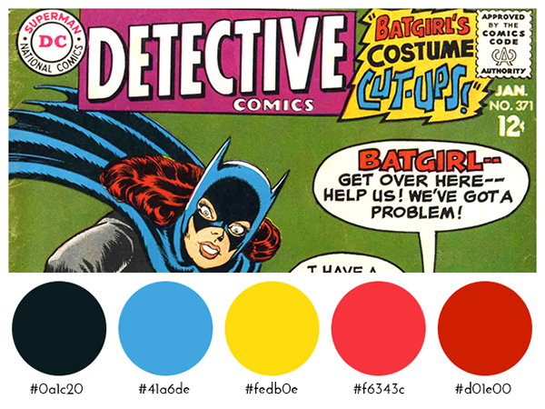 Comic Books Color Palettes on Behance