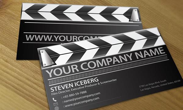 Film director creative business card design on behance colourmoves