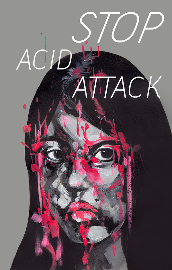 Acid attack poster design on risd portfolios for Design attack