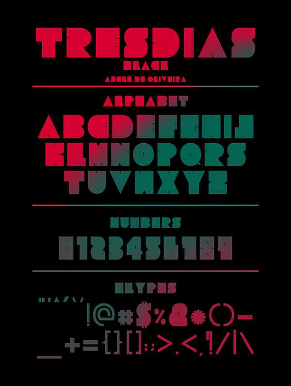 Tresdias free type otf ttf font text sound