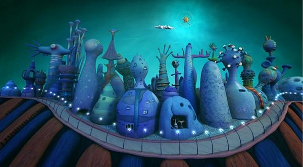 Sun fish Ocean Neighbours icecream cart car city