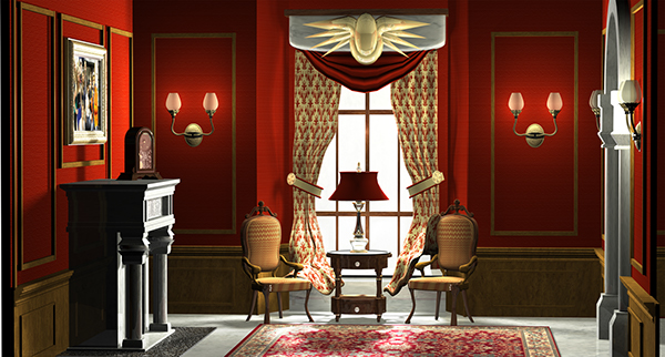 The assignment was to model texture and render a room in Autodesk Maya 2013. My initial concept was to create a Victorian Style room but after further ... : victiorian living room - amorenlinea.org