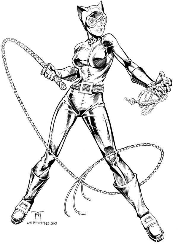 like catwoman colouring pages