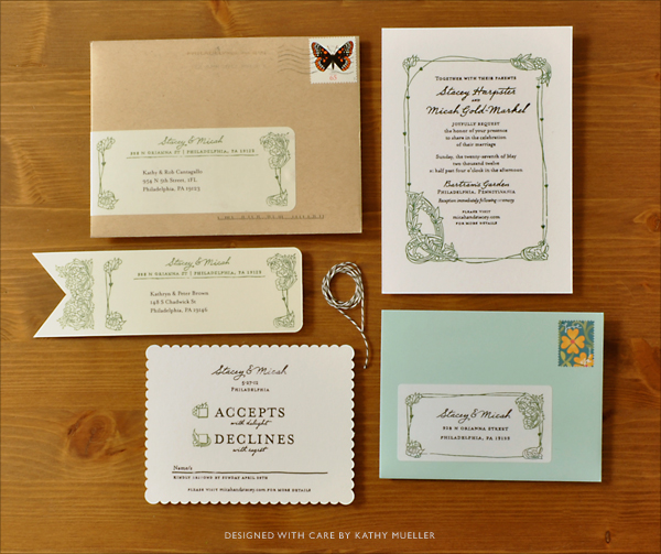 Garden Wedding Invite Suite On Behance