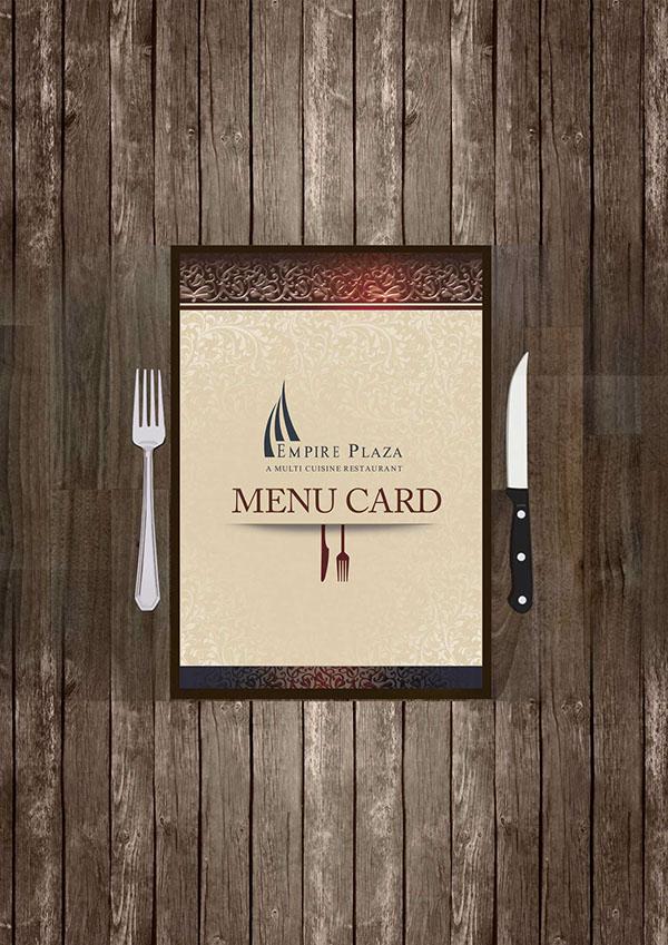 hotel menu card mockup designs on behance