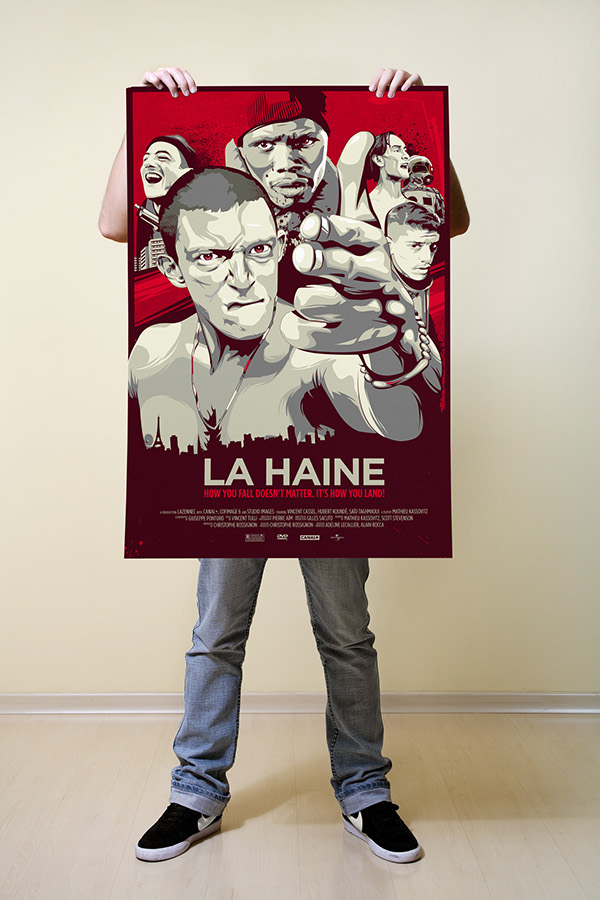poster movie Mondo la haine l'odio hate Kassovitz Mathieu vincent Cassel vinz Illustrator