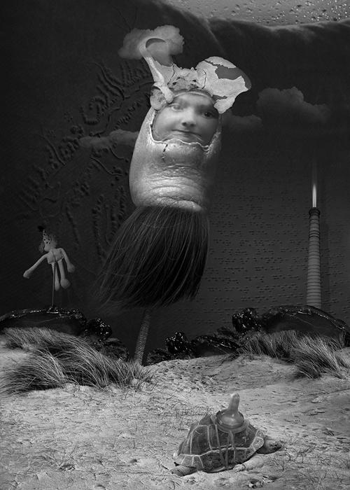 ilustracion collage blanco&negro
