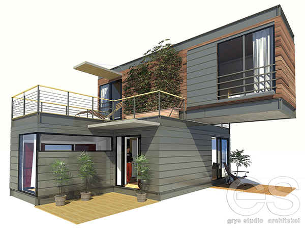 Dom modu owy bielsko bia a on behance - Sea container home designs ideas ...